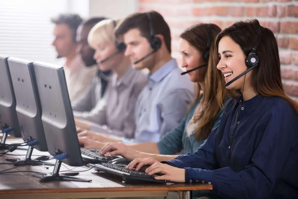 Call center providing remote customer service
