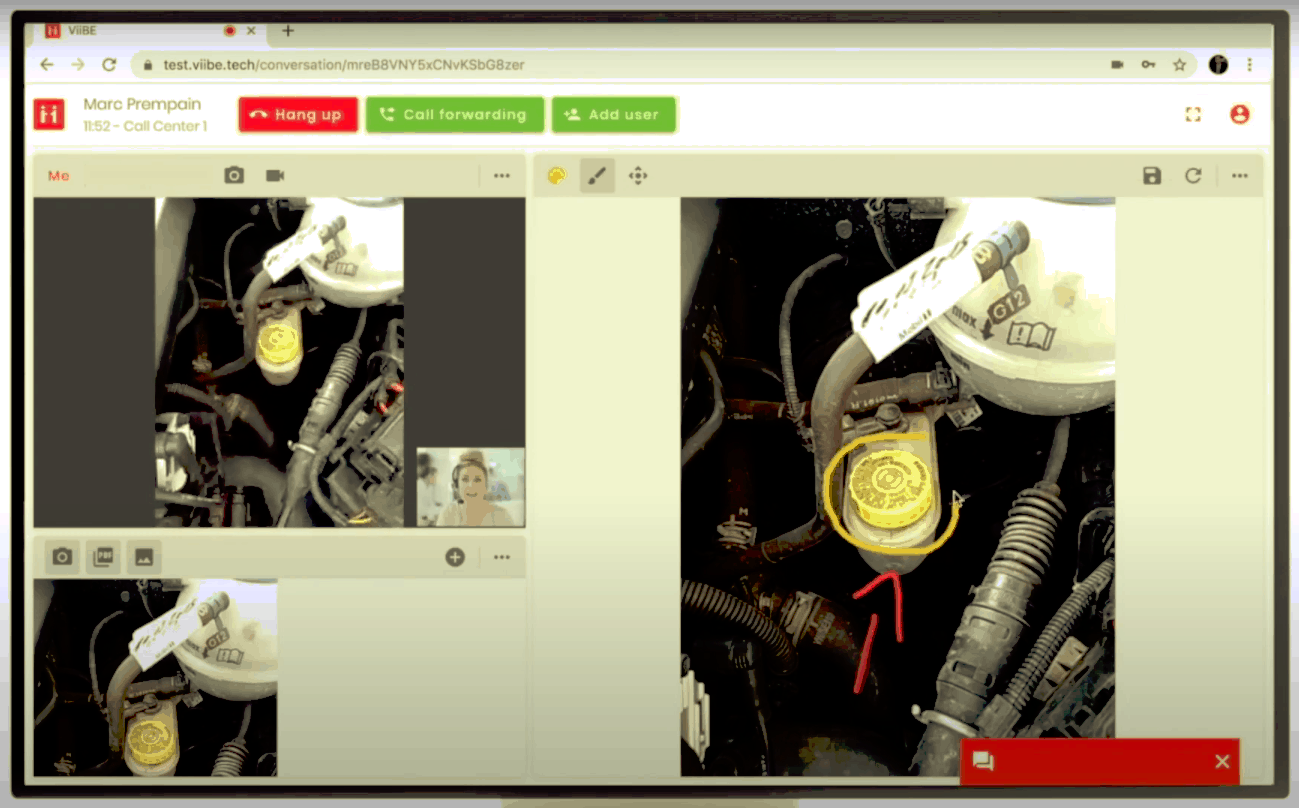 Picture of Teams competitor ViiBE's video assistance platform